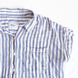 Rails Whitney Blue Button Up Striped Shirt XS